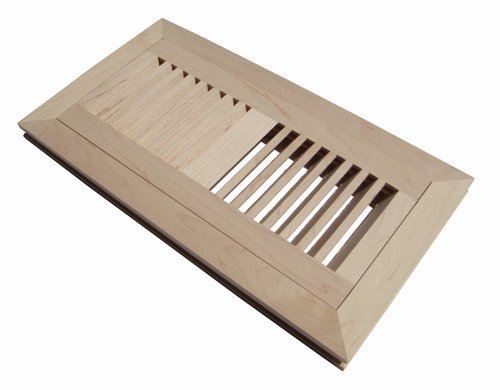 Welland 10,2 x 30,5 cm Ahornholz Flush Mount Boden Register Vent Abdeckgitter unfertig, 3/10,2 cm in Dicke