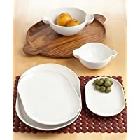 Sagaform Tapas Series Plate, Brown, Set of Two