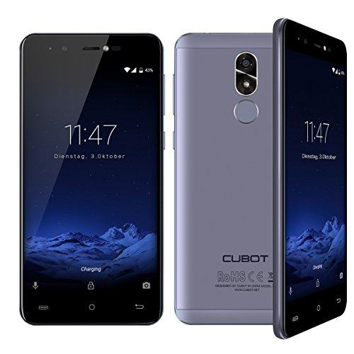 Cubot R9 (2017) Andriod 7.0 Nougat Smartphone 2GB RAM, 5.0 Inch Touch-Display Handy Ohne Vertrag mit Fingerprintsensor, Micro-Sim und Nano-Sim (Himmelblau)