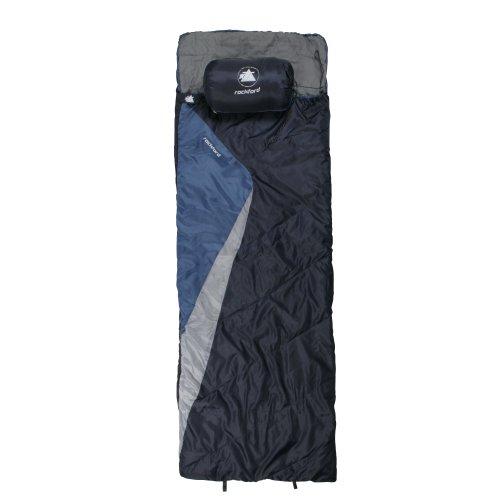 10T Rockfort XL Camping Schlafsack bis -8°C Outdoor Deckenschlafsack 220x800 cm Hüttenschlafsack mit 1500g Trekking Reiseschlafsack für 3 / 4 Jahreszeiten Frühling Sommer Herbst
