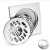LXDXKA Kupfer Bodenablauf Automatische geschlossene Waschmaschine Badezimmer Küche Doppel-Drain Bodenablauf Gold Silber (Farbe : D) Test
