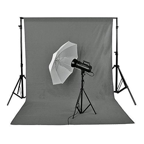Neewer® 3x6m/ 10x20piedi Foto Studio 100% Mussola Pura Pieghevole Sfondo Scenario per Fotografia, Video e Televisione(Sfondo SOLO) - Grigio