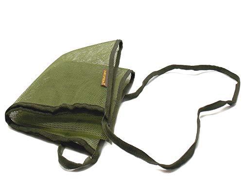 Bolsa de red verde con correa para el transporte. 37,5cm de ancho, 43,5cm de altura. Fabricado en Italia.
