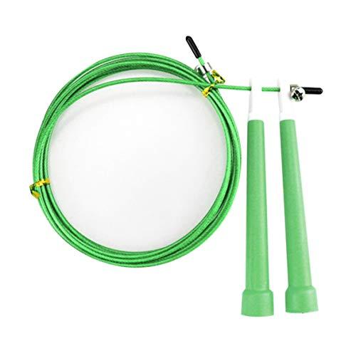 Preisvergleich Produktbild Noradtjcca 3 mt Stahldraht Geschwindigkeit Überspringen Springseil PVC Griff Einstellbar Überspringen Seil Fitness Trainingsgeräte