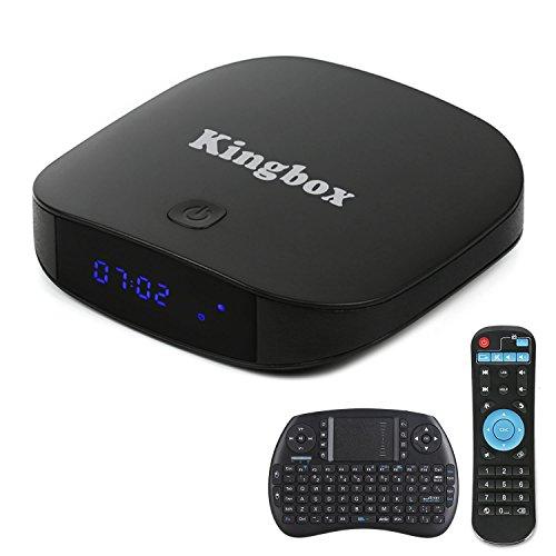 Kingbox - [2018 Neueste Version] K1 PLUS Android 7,1 TV Box 2GB Ram + 8GB eMMC/ 4K HD/ Quad-Core/ BT 4.0/ 2.4Ghz WiFi / 100 LAN / H.265/ mit Mini Wireless Tastatur Smart TV Box