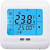 Digital Raumtemperaturregler Temperaturregler mit LCD Touchscreen Fußbodenheizung Heizung (blau)