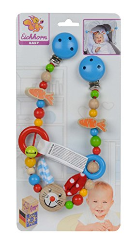 Baby Wagenkette mit Hasenmotiv, 54cm, FSC 100% Zertifiziertes Buchenholz, Made in Germany ()