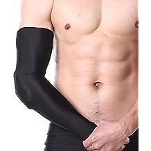 Skysper 1 par Protector de antebrazo Brazo Manga Codo Soporte Brazo Codera Protector para Baloncesto Fútbol Ciclismo Mujer Hombre Deportiva
