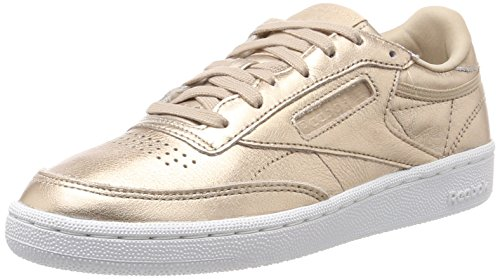 Reebok Club C 85 Melted Metals, Zapatillas para Mujer, Dorado (Pearl Metallic-Peach/White), 40 EU