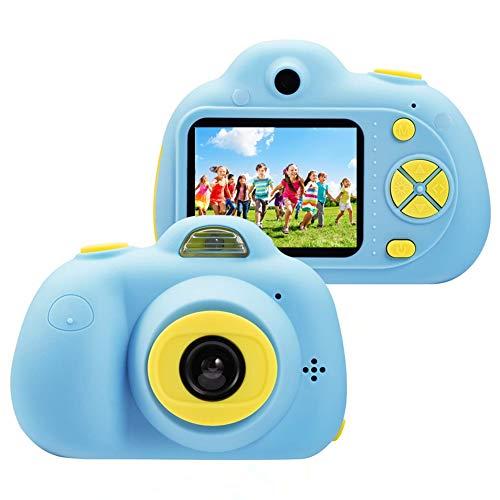 ToyZoom 1080P HD Bambini Fotocamera Digitale Selfie Macchina Fotografica 8MP Videocamera con Zoom 4X, LCD da 2 Pollici, Dual Lens Camera Regalo di Compleanno per Bambini (Blu)