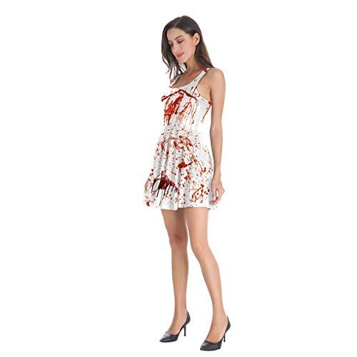 Kostüm Adult Nacht Krankenschwester - CHUN BO Halloween Adult Kostümfest Performance Party Krankenschwester Zombie Horror Charakter Spielen Lady Tank Dress,M