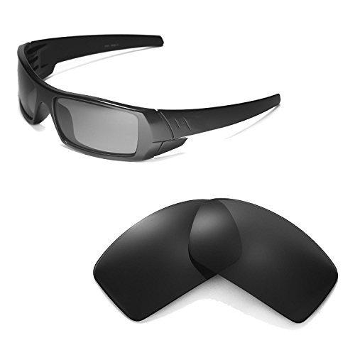 Walleva Ersatzgläser für Oakley Gascan Sonnenbrille - Mehrfache Optionen (Schwarz - polarisiert)