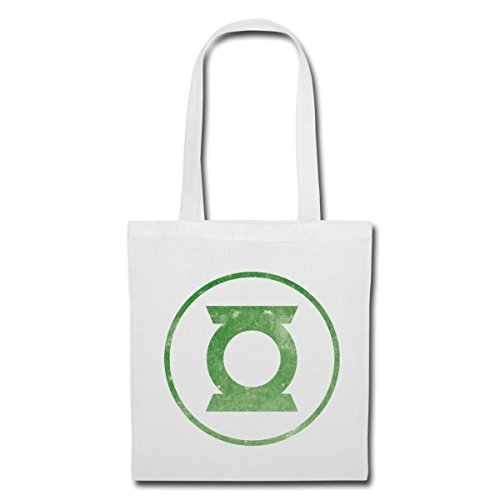 Spreadshirt DC Comics Justice League Green Lantern Logo Stoffbeutel Weiß