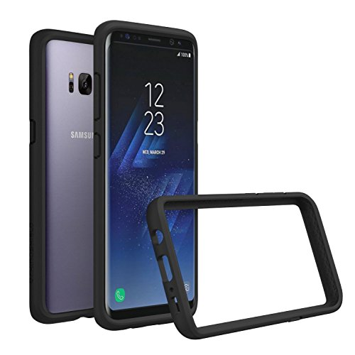 Samsung Galaxy S8 Plus Case, RhinoShield [CrashGuard] Heavy Duty 11ft Drop Protection [High Durability] Thin Lightweight Protective Bumper - Perfect w/ Skin [Great for NFC and Wireless Charger] - Black