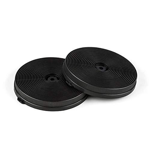 Klarstein Aktivkohlefilter für Dunstabzugshauben Ersatzteil 2 Filter Umluftbetrieb Ø11,5 cm