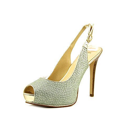 Indovina Huela slingback Pompe Mint Green Metallic