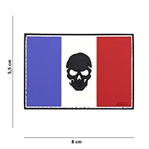 Patch 3D PVC Punisher Drapeau France / Cosplay / Airsoft / Camouflage