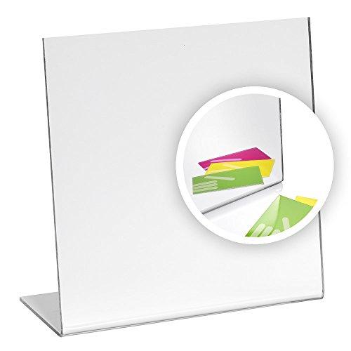 Zeigis Tischaufsteller/Spiegel / Tischspiegel 200x200mm aus Acrylglas