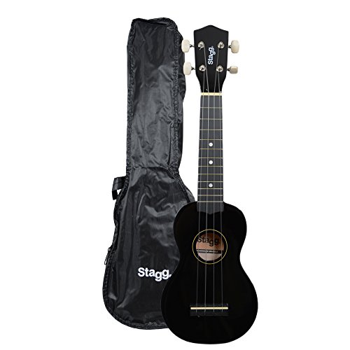 Stagg US10BK - Ukelele soprano, color Negro