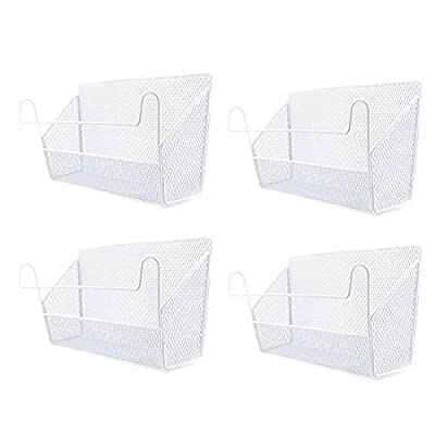 bfeem Hanging Storage Basket, 4Pcs Bedside Hanging Storage Basket Supplies Desktop Corner Shelves Basket Holder Containers for Home/Office/School Dormitory - inexpensive UK light shop.