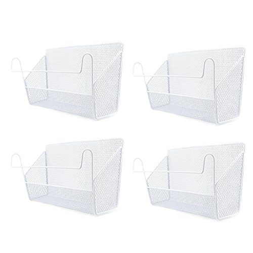 Hipsteen 4 pezzi Armadio Organizzatore Camera Salvaspazio da Appendere organizzatore Scaffale a Cesto Storage Box comodino Shelf Dorm bedside Vaso appeso per il Bed Giocattolo libri - bianca
