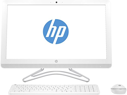 HP All-in-One 24-E015NS - Ordenador de sobremesa de 23.8' (Inter Core i3-7100U, 8 GB de RAM, 1 TB de disco duro) blanco nieve - teclado QWERTY español