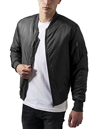 Urban Classics Basic Bomber Jacket, Giacca Uomo, Grau (Cool Grey 794), Large