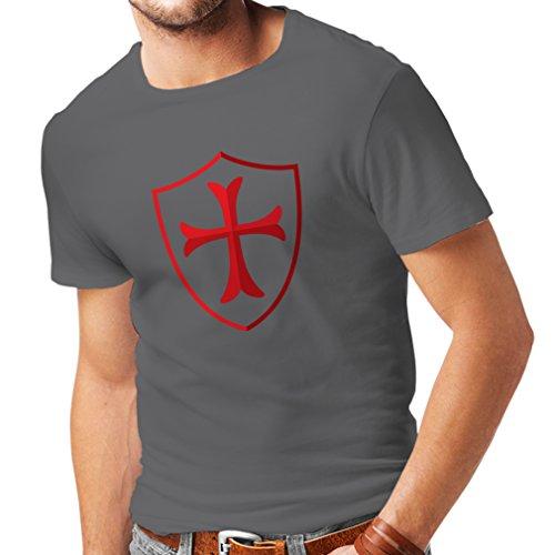Ritter - Templar Schild christlichen Ritter Ordnung (Medium Graphit Mehrfarben) (Assassin ' S Creed Handschuh)