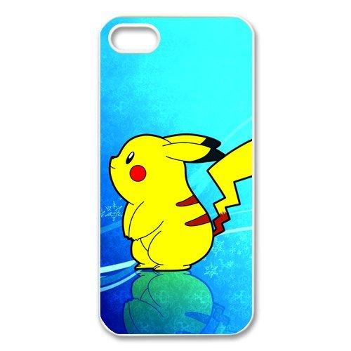 Rubber Étui de protection Case Cover Pour iPhone 55S Coque, Pokemon Pikachu Housse Coque pour iPhone5, Soft en silicone skin Housse Coque Shell de protection pour iPhone 55S