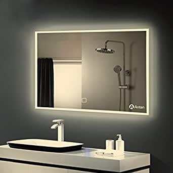 Anten 174 Modern Luxury Bathroom Led Lights With Mirror