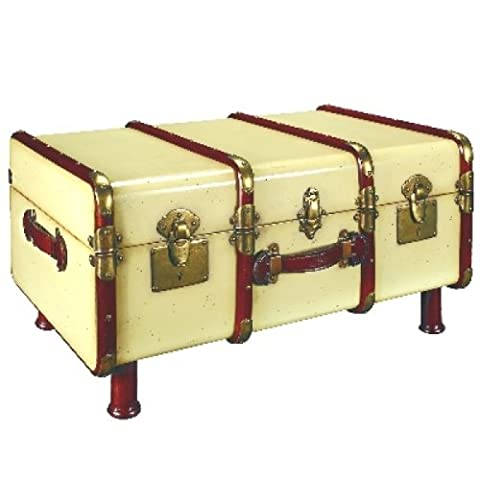ProPassione Trunk Table Pullman, antique look, colour ivory/cherry wood, brass hinges, l 86 w 58 x h 46 cm