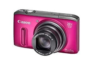 Canon PowerShot SX 240 HS Digitalkamera (12,1 Megapixel, 20-fach opt. Zoom, 7,6 cm (3 Zoll) Display, bildstabilisiert) pink