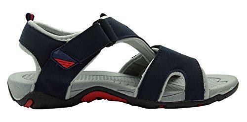 Sonic Hommes pantoufle été floater de sport casual chaussures sandale en plein air Bleu et Gris