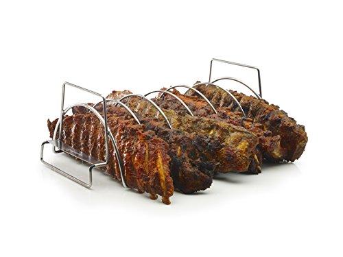 41WoxNqiqUL - Ripperl und Spareribs Halter fürs Grillen - Grill Zubehör  -> großes Sortiment an Grill Zangen Rost und Zubehör fürs Grillen