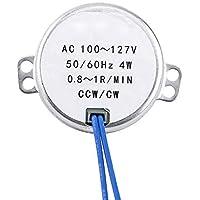 AC 100-127V 4W motor sincrónico 50/60Hz CCW/CW motor para decoración de Navidad/ventilador eléctrico/AC/ambientador de aire caliente/Popcorn Popper. (0.8-1RPM)
