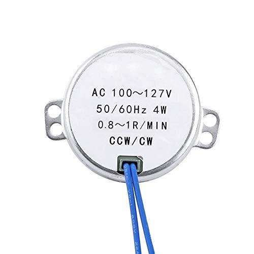 Synchronmotor, Wechselstrom 100-127V 50 / 60Hz 4W zur Belüftung von Ventilatoren, Heizung, Verkaufsregal, Kunsthandwerk, Lampen, Beleuchtung, Spielzeug(0.8-1RPM)