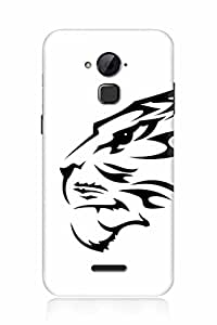 FABCASE Premium leo,lion,abstract,black and white Printed Hard Plastic Back Case Cover for Coolpad Note 3 Lite