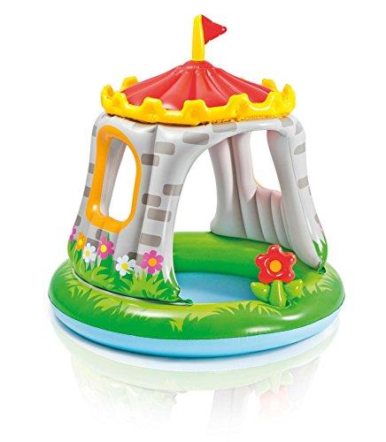 HJXJXJX 122 * 122cm Schloss-geformte überdachte Baby-Pool