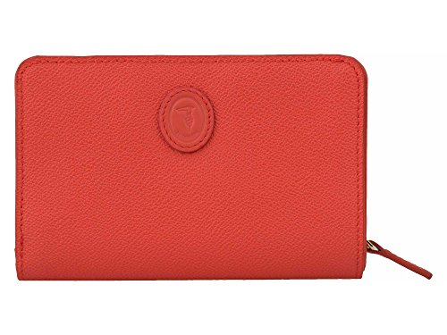 trussardi-damen-portemonnaie-echtleder-orangerot-one-size