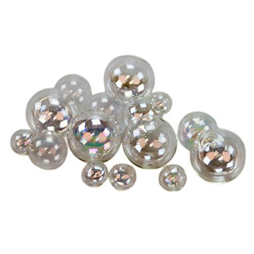 10 x Glasblasen zur Dekoration Ø 1,5cm. Mundgeblasene Kugeln aus hauchdünnem Klarglas
