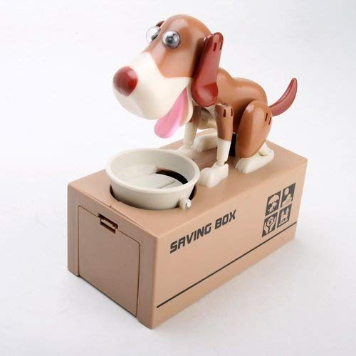 Eshowy My Dog Piggy Bank - Robotic Coin Eating Munching Toy Money Saving Box by Eshowy