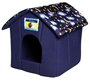 Ancol Cosy Pet House Bed Dog Cat Rabbits Moons & Stars Design