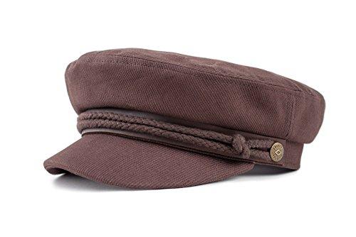 Brixton Fiddler Cap Headwear, Brown Cord, M