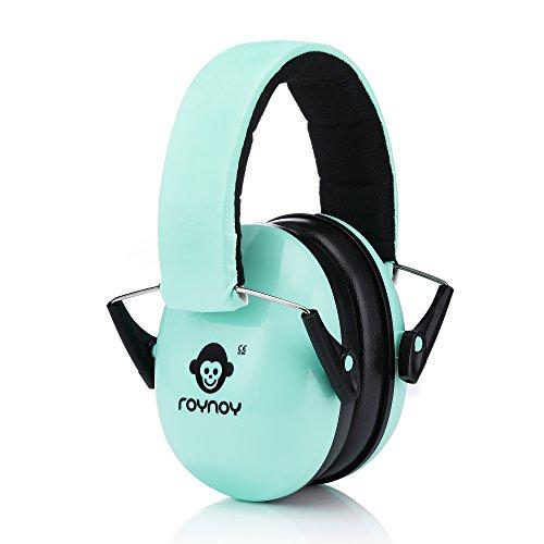 roynoy | Lärmschutzkopfhörer für Kinder (mint) | Gehörschutz von 1 bis 16 Jahre | Ohrenschutz Kinder | Ohrenschützer | Lärmschutz | Schallschutz