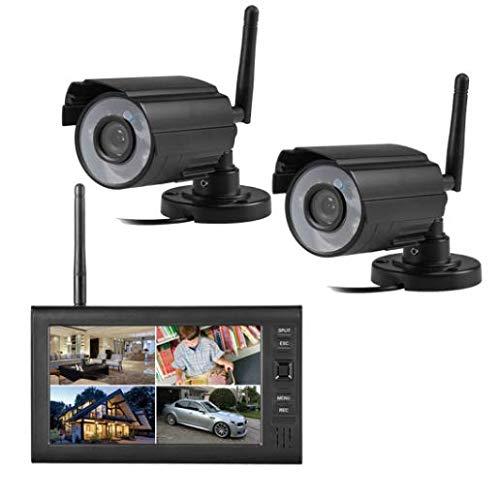 TKFY High Definition Video 4-Bildschirm-LCD-Kamera wirelessSecurity WiFi Außenkamera 7 Zoll APP Fernbedienung WiFi Überwachungskamera -