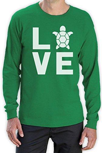 I love Schildkröten - Geschenke für Tierliebhaber Langarm T-Shirt Grün
