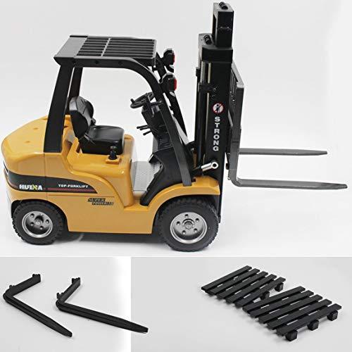 HUINA Toys 1577 1/10 8CH Aleación RC Carretilla elevadora Camión grúa Construcción de vehículos Vehículo de Juguete con luz de Trabajo Workbench Lift RTR fghfhfgjdfj