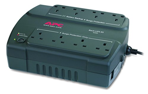 APC Back-UPS ES 400 - Uninterruptible Power Supply 400VA, - BE400-UK - 8 Outlets - Surge protected