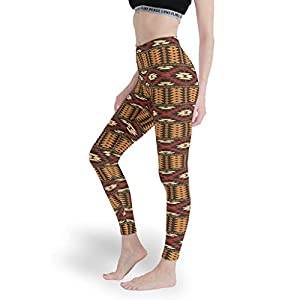 Chanpin Grafik Geometrie Damen Superweich Leggings Neuheit Aktiv Yoga Hosen Weich Capris Tights für Pilates Gym