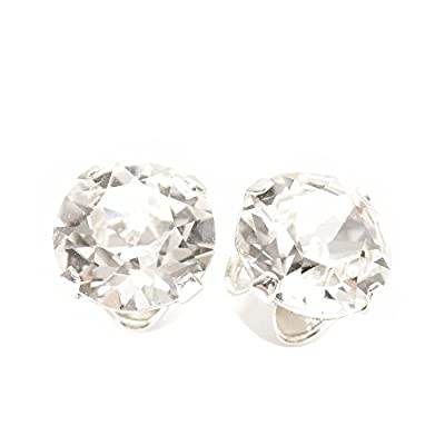 End of line clearance. 925 Sterling Silver stud earrings expertly made with sparkling crystal from SWAROVSKI® for Women